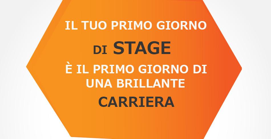 Spindox stage RDS Repubblica degli Stagisti, locandina con scritto: il tuo primo giorno di stage è il primo giorno di una brillante carriera