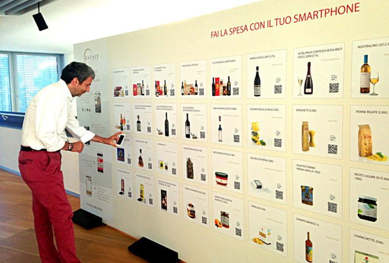 Il nostro Luca Foglino fa la spesa con lo smartphone