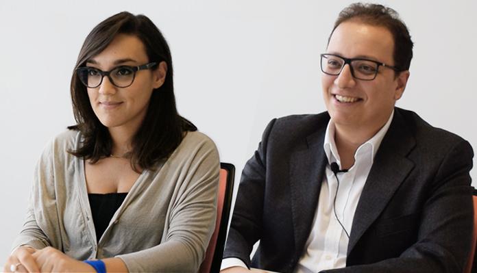 Roberta Cecatiello e Giulio Palmieri: un po' analisti funzionali, un po' PM. iPMO di spindox.