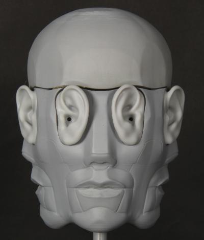 Binaural 3D microphone head