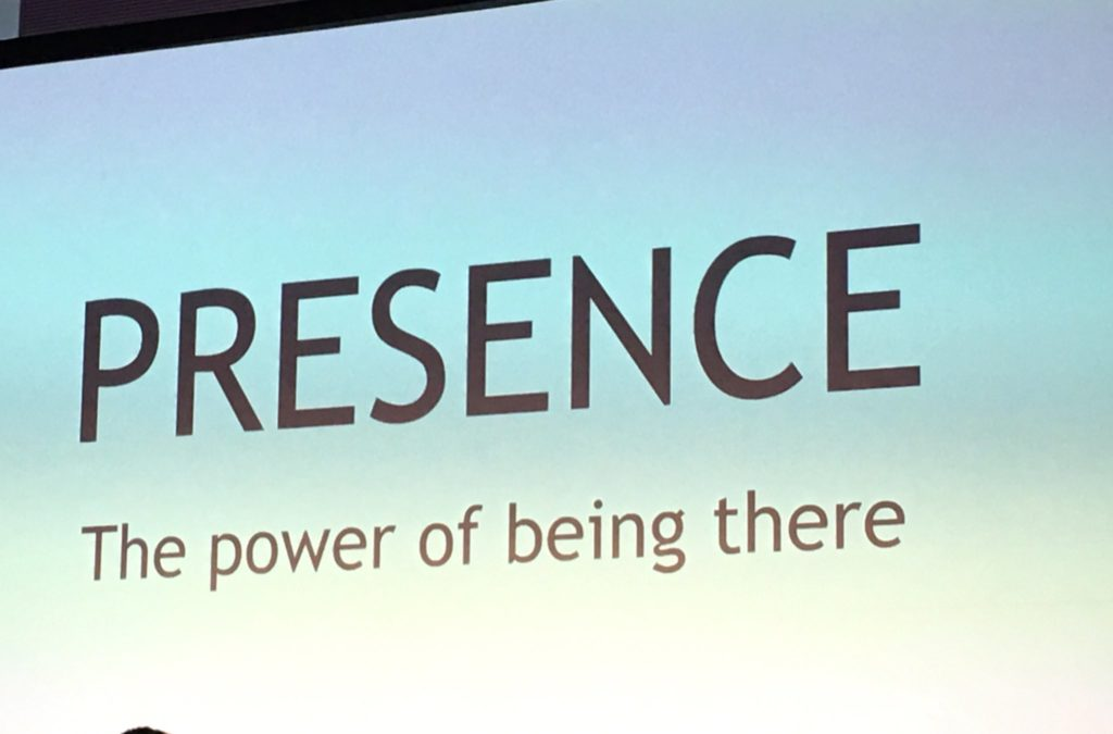 Presence: the power of being there