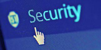 foto di uno schermo con la scritta security