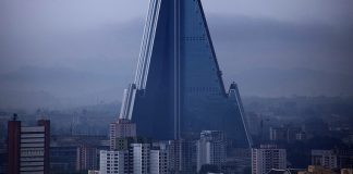 edificio in corea del nord