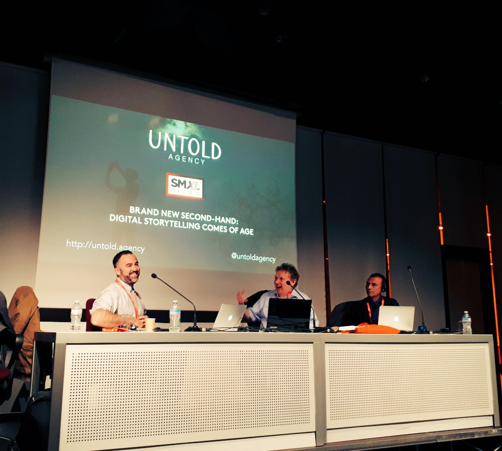 Theo Cooper (Untold Agency), Ken Mcgaffin (Audiential.com), Andrea Fontana (Storyfactory) a SMXL Milan 2017