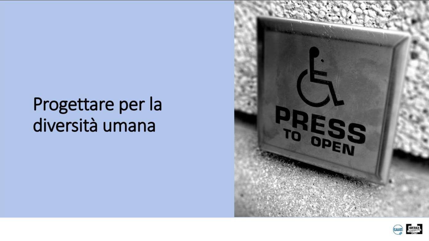 Accessibilità, icona sedia a rotelle