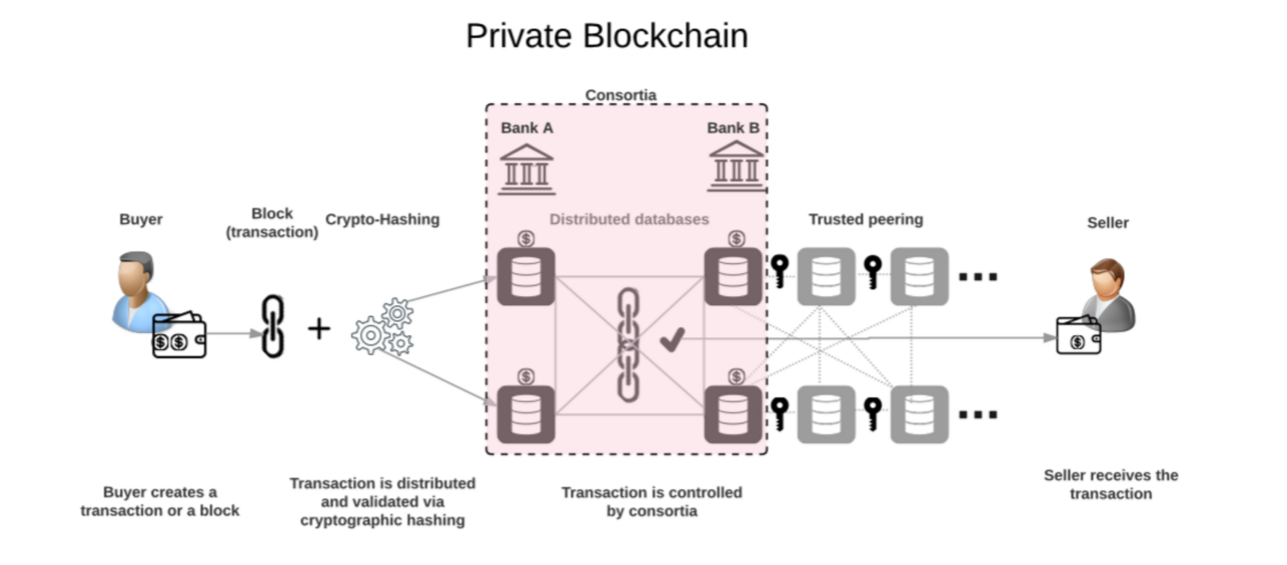 permissioned blockchain, private