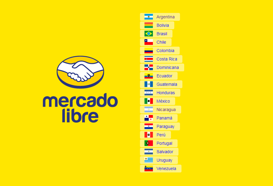 Homepage Mercato Libre