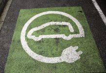 Simbolo di ricarica dell'auto elettrica
